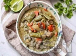 Къри с бяла риба, зеленчуци и кокосово мляко - снимка на рецептата